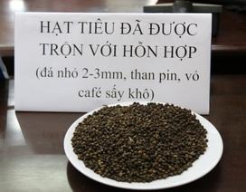 Khởi tố 5 đối tượng nhuộm tạp chất cà phê với pin để trộn với hồ tiêu