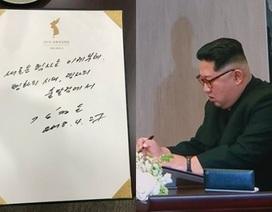 """""""Giải mã"""" nét chữ của ông Kim Jong-un khi gặp Tổng thống Hàn Quốc"""
