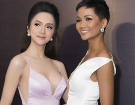 Hoa hậu Hương Giang khoe vòng 1 căng đầy, hội ngộ H'Hen Niê