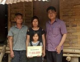 Hơn 77 triệu đồng đến với bé Đinh Thị Tuyết Trinh