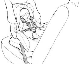 Khi xảy ra va chạm, trẻ nhỏ ngồi ghế quay mặt về phía sau là an toàn nhất