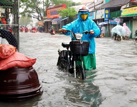 Sau trận mưa, cả phố biến thành sông
