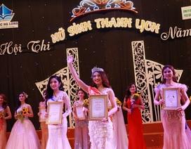Hoa khôi giỏi ngoại ngữ được chọn là đại diện cho năm du lịch Quảng Ninh 2018