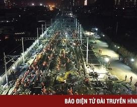 1.500 công nhân Trung Quốc làm đường sắt mới chỉ trong 9 tiếng