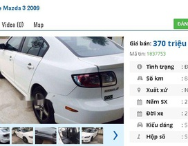 Chiếc ô tô Mazda cũ số tự động này đang rao bán tầm giá 300 triệu đồng tại Việt Nam