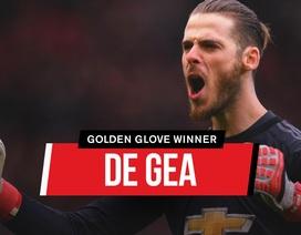 De Gea lần đầu nhận giải Găng tay vàng