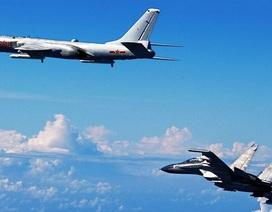 Máy bay chiến đấu Trung Quốc dàn hàng diễn tập quanh Đài Loan