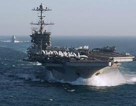 Video tàu hộ vệ Nga bám đuổi tàu sân bay Mỹ trên Địa Trung Hải