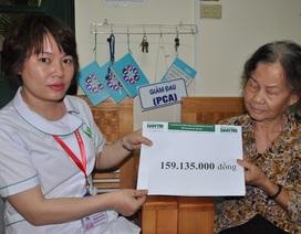 Gần 160 triệu đồng đến với bé Thắng mồ côi bị u khớp gối