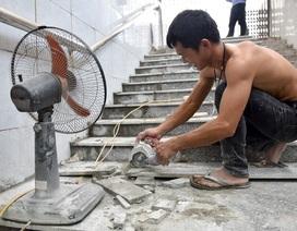 Hầm chui đi bộ ở Hà Nội được lát mới đá nền
