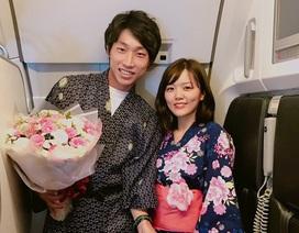 Lời tỏ tình ngọt ngào của cặp đôi Nhật Bản trên chuyến bay giá rẻ Việt Nam