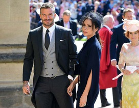 Vợ chồng Beckham nổi bật giữa dàn sao tham dự đám cưới của hoàng tử Harry