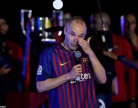 Iniesta rơi lệ nói lời tạm biệt Barcelona, sẵn sàng cho World Cup 2018