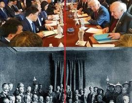 Điều đặc biệt về đàm phán Mỹ - Trung trong hai bức ảnh cách nhau một thế kỷ