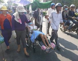 Đẩy nạn nhân bị liệt đi suốt 8km dưới trời nắng để phản đối kết luận điều tra