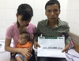 Hơn 141 triệu đồng đến với bé Yến Chi 7 tháng tuổi bị đa dị tật