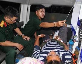 Trực thăng xuyên đêm, cứu bệnh nhân nhồi máu cơ tim trên đảo Trường Sa