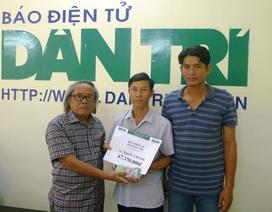 Trao hơn 67 triệu đồng đến em Nguyễn Văn Giàu