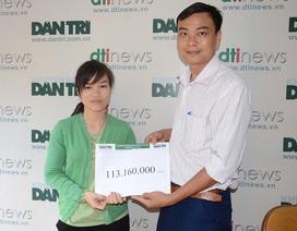 Hơn 113 triệu đến với gia đình bé Đạt