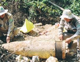 """Hủy nổ an toàn quả đạn pháo """"khủng"""", nặng gần 1.000 kg"""