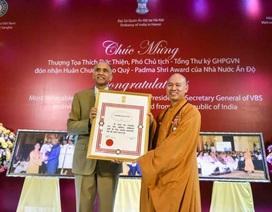Thượng tọa Thích Đức Thiện nhận huân chương cao quý của Ấn Độ