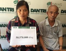Hơn 50 triệu đồng đến với vợ bệnh tim, chồng ung thư