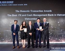 """Vietcombank: """"Ngân hàng cung cấp dịch vụ ngoại hối tốt nhất Việt Nam"""""""