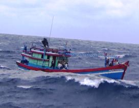 Tàu cá hỏng máy phải thả trôi suốt một ngày trên biển