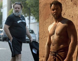"""Khó nhận ra """"võ sỹ giác đấu"""" một thời Russell Crowe"""