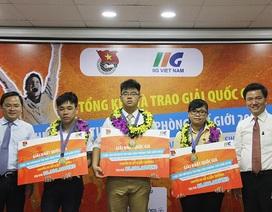 3 bạn trẻ Việt giành vé đi Mỹ thi chung kết Tin học văn phòng thế giới