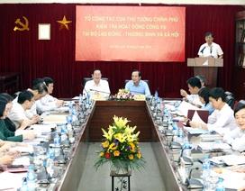 Đoàn công tác của Thủ tướng làm việc với Bộ LĐ-TB&XH