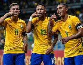 """Đội tuyển Brazil """"bơi trong tiền"""" nếu vô địch World Cup 2018"""