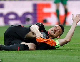 Dính chấn thương nặng, ngôi sao Arsenal có nguy cơ lớn mất World Cup 2018