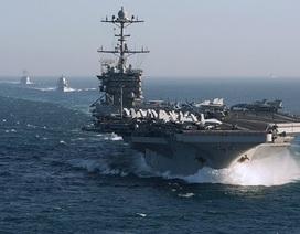Máy bay chiến đấu xuất kích từ tàu sân bay Mỹ oanh tạc IS ở Syria