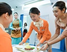 Nữ sinh Hàn Quốc trải nghiệm làm tiếp viên hàng không Việt Nam