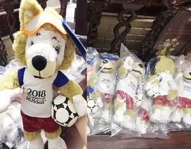 """""""Hốt bạc"""" nhờ kinh doanh sói bông Zabivaka - linh vật World Cup 2018"""