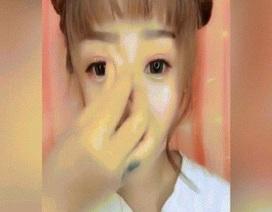 """Chiêu """"lừa tình"""" của gái xinh Trung Quốc: Làm mũi cao, cằm thon bằng bột mì"""