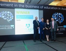 Apollo English thắng giải EducationInvestor Asia Awards hạng mục Hệ thống đào tạo Anh ngữ của năm