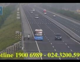 Xe dừng đón khách trên cao tốc Hà Nội - Hải Phòng bị phạt 5,5 triệu đồng