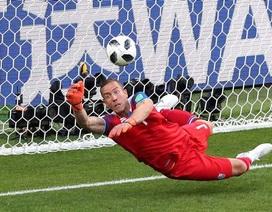 Thủ môn Iceland sung sướng vì cản phá phạt đền của Messi