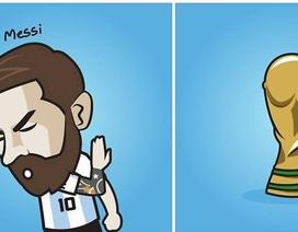 Cư dân mạng chế ảnh Messi ê chề sau thất bại trước Croatia