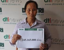Hơn 245 triệu đồng đến với cậu bé Dương bị ung thư máu