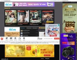 Quảng cáo đang quay trở lại tràn ngập trang web phim lậu ở Việt Nam