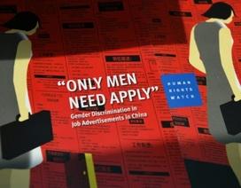 Trung Quốc: Phân biệt giới trong lao động ngày càng trầm trọng