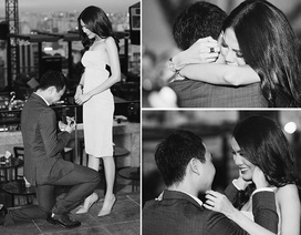 Siêu mẫu Lan Khuê bật khóc khi bất ngờ được bạn trai đại gia cầu hôn