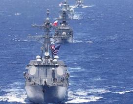 Dàn tàu chiến rầm rộ đổ về tập trận hải quân lớn nhất thế giới