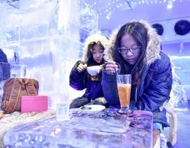 Quán cà phê băng đá lạnh âm 10 độ ở Hà Nội
