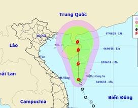 Sáng mai áp thấp nhiệt đới khả năng sẽ mạnh lên thành bão