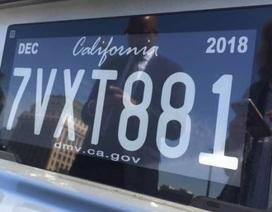 California thử nghiệm biển số xe điện tử