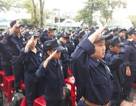Quảng Ngãi: 70 trẻ em học làm chiến sĩ công an nhân dân